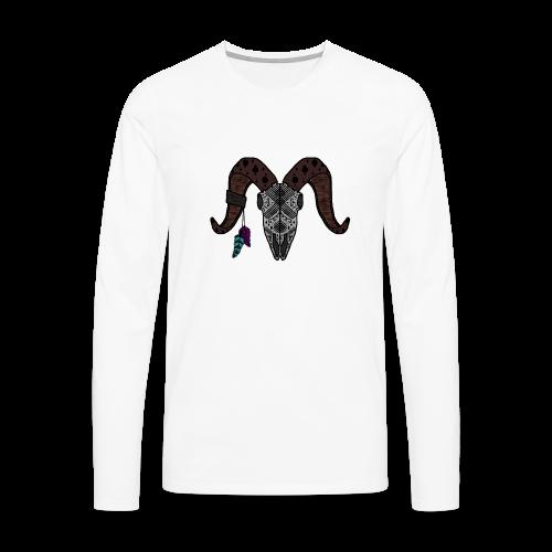 Widder-Federn - Männer Premium Langarmshirt