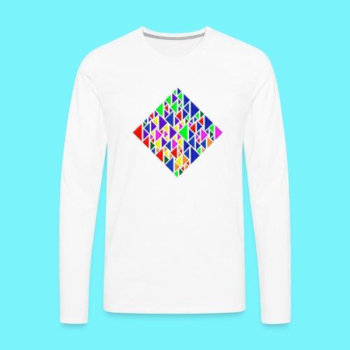 A square school of triangular coloured fish - Men's Premium Longsleeve Shirt