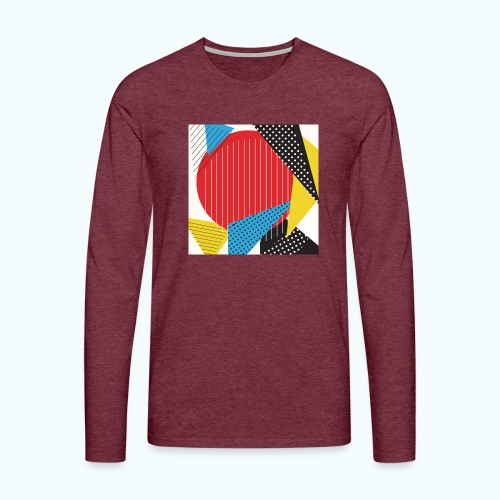 Geometry collage Abstract colors - Men's Premium Longsleeve Shirt