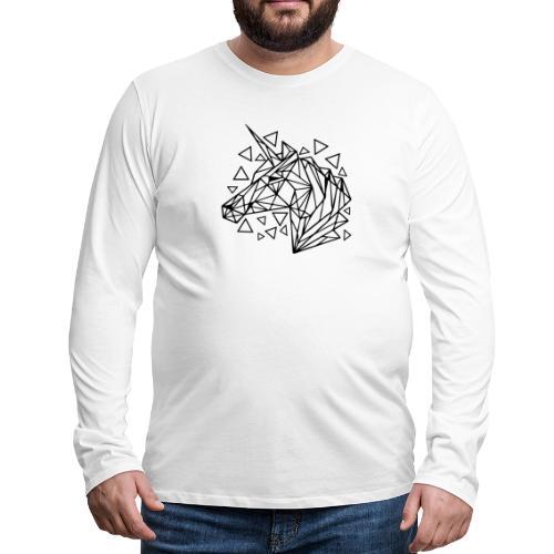 unicornio minimalista - Camiseta de manga larga premium hombre