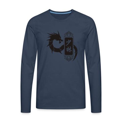shaolin dragon one color - T-shirt manches longues Premium Homme
