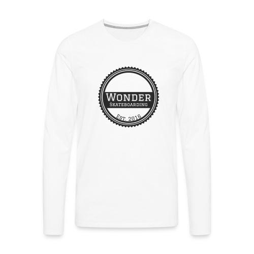Wonder unisex-shirt round logo - Herre premium T-shirt med lange ærmer
