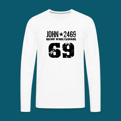 john 2469 numero trasp per spread nero PNG - Maglietta Premium a manica lunga da uomo