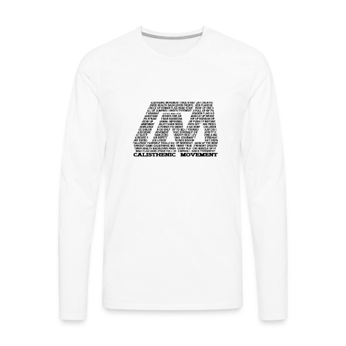 CM Logo aus Text schwarz - Männer Premium Langarmshirt