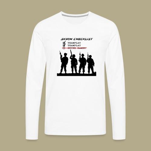 Skirm Checklist - Mannen Premium shirt met lange mouwen
