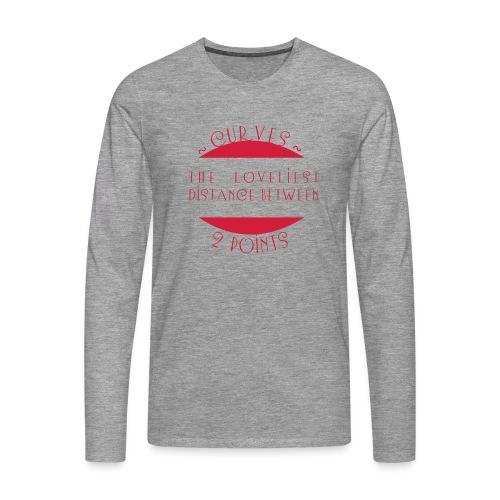 Curves - Miesten premium pitkähihainen t-paita