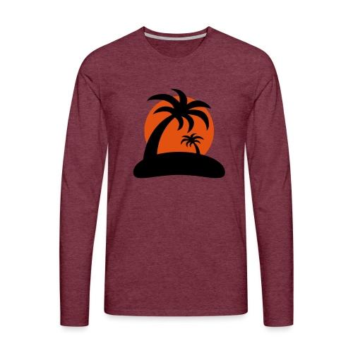 palm island sun - Mannen Premium shirt met lange mouwen