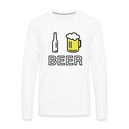 I Love Beer (2-farbig) - Männer Premium Langarmshirt