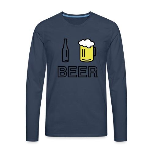 I Love Beer (3-farbig) - Männer Premium Langarmshirt