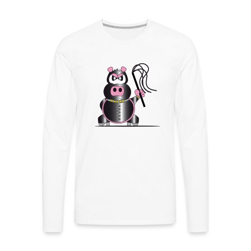 Schweinchen Sado - Männer Premium Langarmshirt