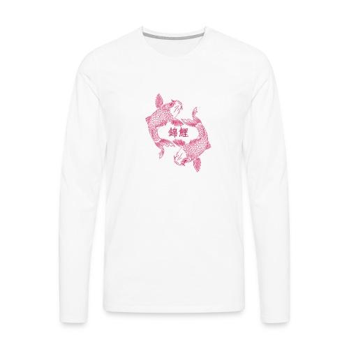 Carpe Koï Néon - T-shirt manches longues Premium Homme