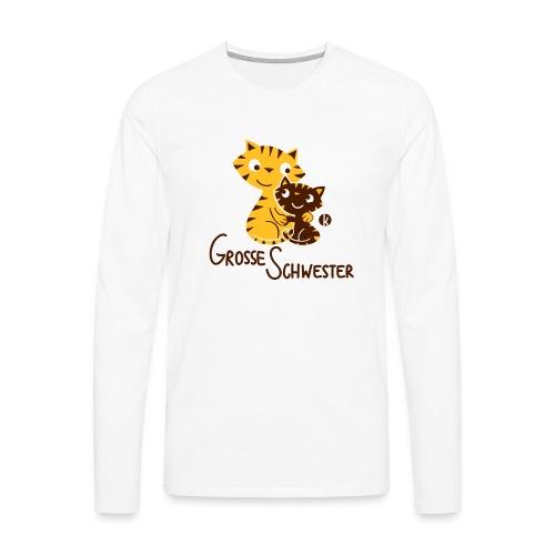 Große Schwester Katzen - Männer Premium Langarmshirt