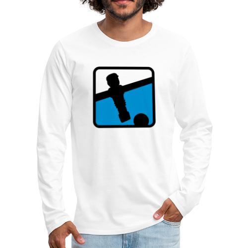 soccer player - Kickershirt - Männer Premium Langarmshirt