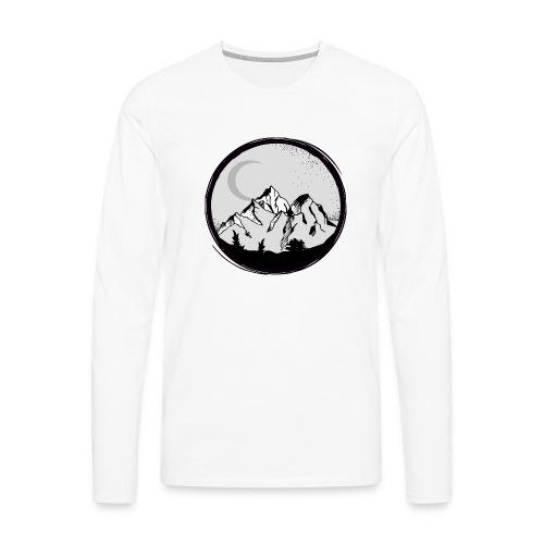 berge png - Männer Premium Langarmshirt