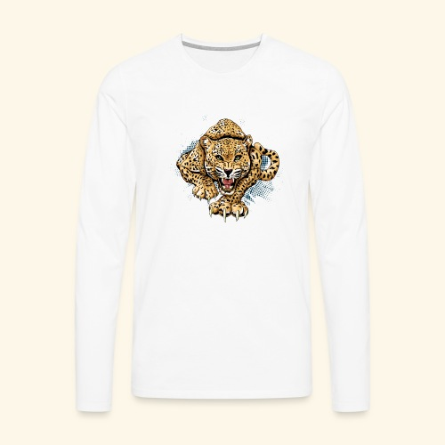 Leopardo KutuXa - Camiseta de manga larga premium hombre