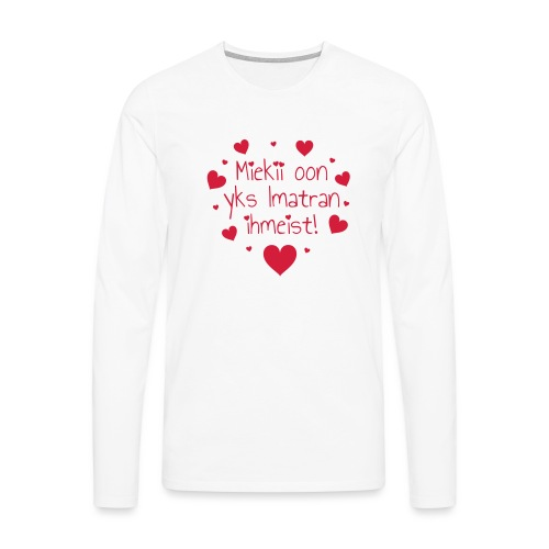 Miekii oon yks Imatran Ihmeist vauvan lh body - Miesten premium pitkähihainen t-paita