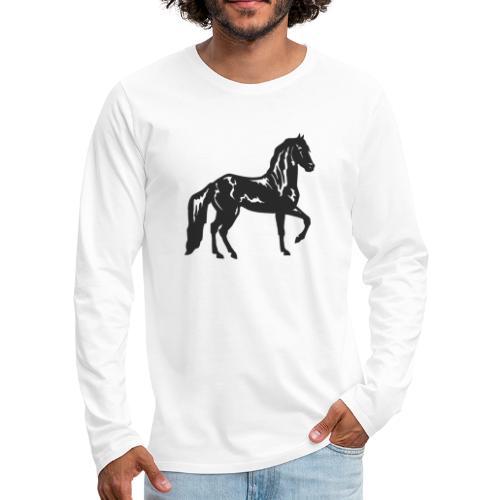 Cheval noir - T-shirt manches longues Premium Homme