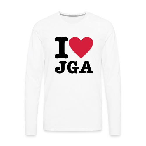 I love JGA - Männer Premium Langarmshirt