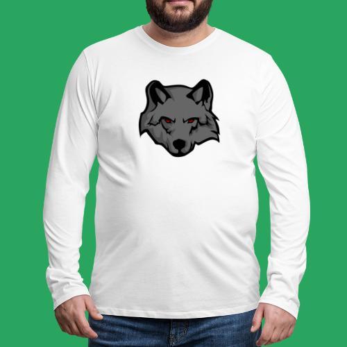 wolf logo - Maglietta Premium a manica lunga da uomo