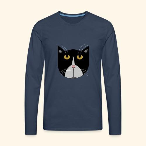 Muikkunen DESING - Miesten premium pitkähihainen t-paita