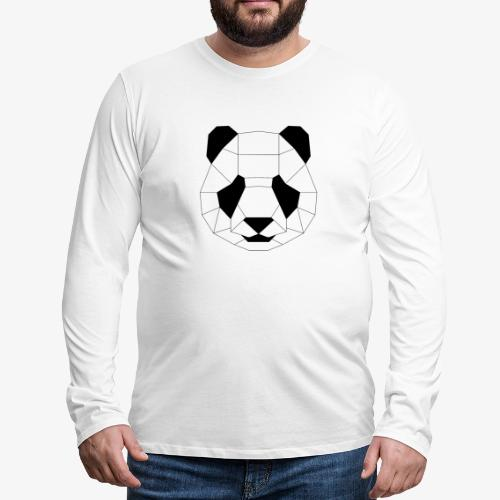 Panda schwarz - Männer Premium Langarmshirt