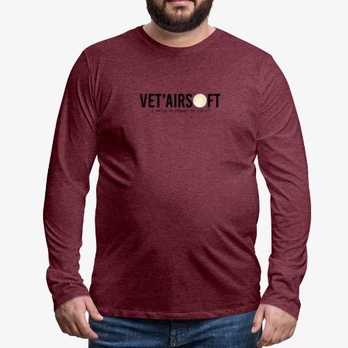 Logo Vet'Airsoft (noir) - T-shirt manches longues Premium Homme
