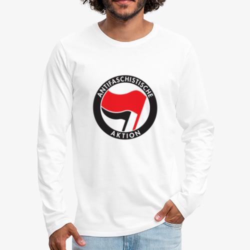 Atnifaschistische Action - Antifa Logo - Men's Premium Longsleeve Shirt