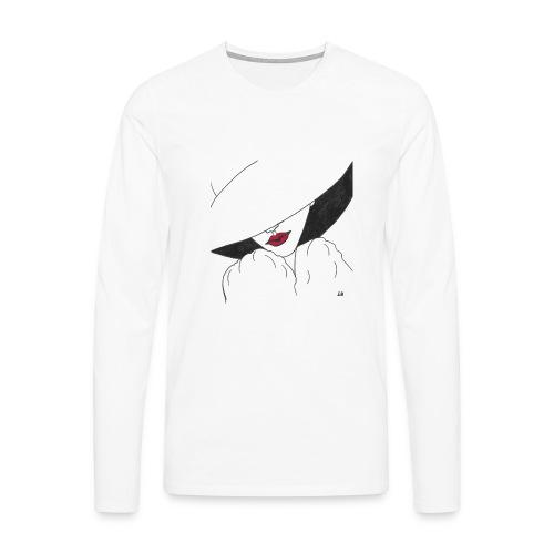 The Mystery Woman - Långärmad premium-T-shirt herr