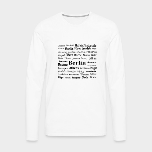 European capitals - Men's Premium Longsleeve Shirt
