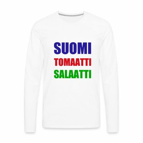 SUOMI SALAATTI tomater - Premium langermet T-skjorte for menn