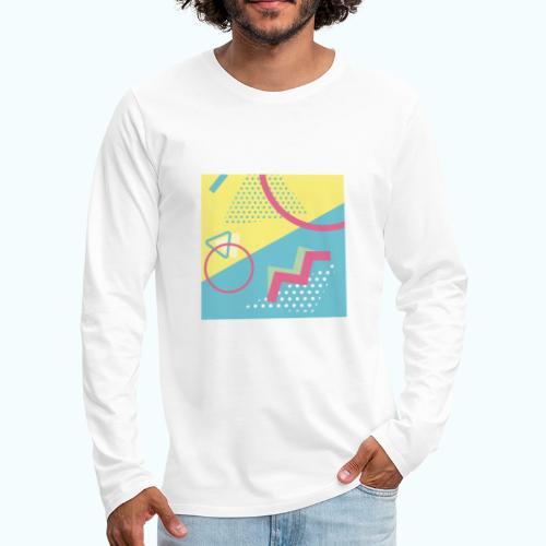Pastel turquoise geometry - Men's Premium Longsleeve Shirt