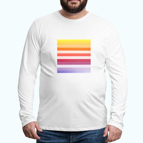 Rainbow Abstract Acrylic Painting - Men's Premium Longsleeve Shirt