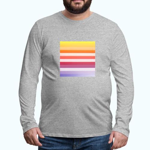 Rainbow Abstract Acrylic Painting - Men's Premium Longsleeve Shirt