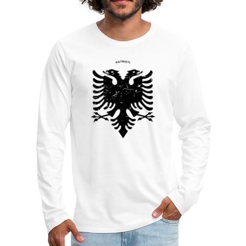 Albanischer Adler im Vintage Look - Patrioti - Männer Premium Langarmshirt