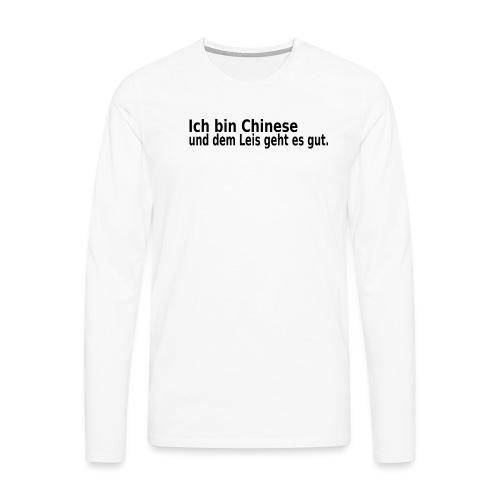 chinese China Reis - Männer Premium Langarmshirt