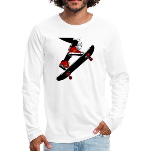 Skating - Maglietta Premium a manica lunga da uomo