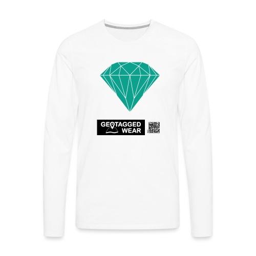Unisex Diamond Pantone Arcadia - Männer Premium Langarmshirt