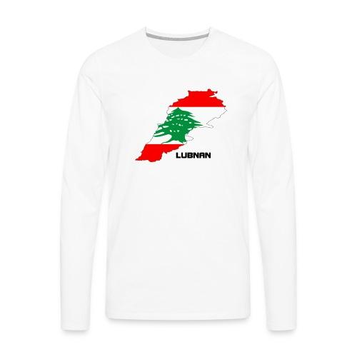 libanon landkarte - Männer Premium Langarmshirt