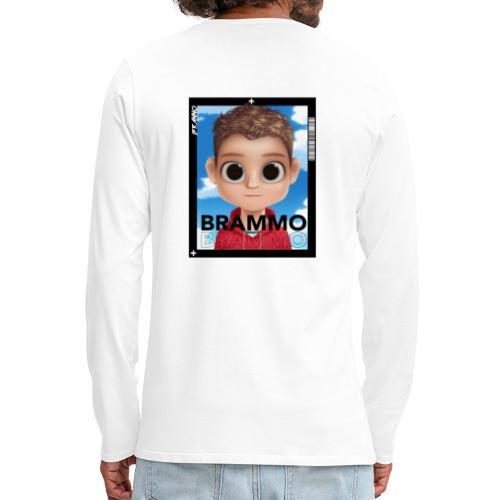Brammo Cartoon wit - Mannen Premium shirt met lange mouwen