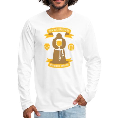 Humble logo - Långärmad premium-T-shirt herr