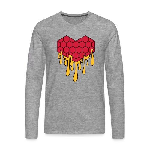 Honey heart cuore miele radeo - Maglietta Premium a manica lunga da uomo