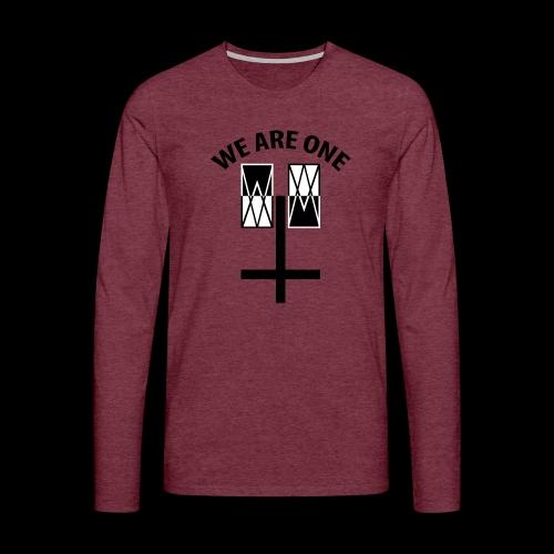WE ARE ONE x CROSS - Mannen Premium shirt met lange mouwen