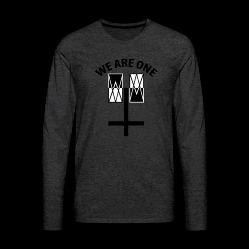 WE ARE ONE x CROSS - Mannen Premium shirt met lange mouwen