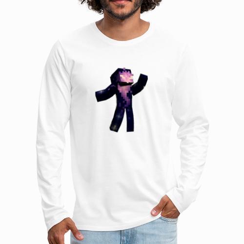 Skin Rising Pose with Shaykh Gaming on Back - Men's Premium Longsleeve Shirt