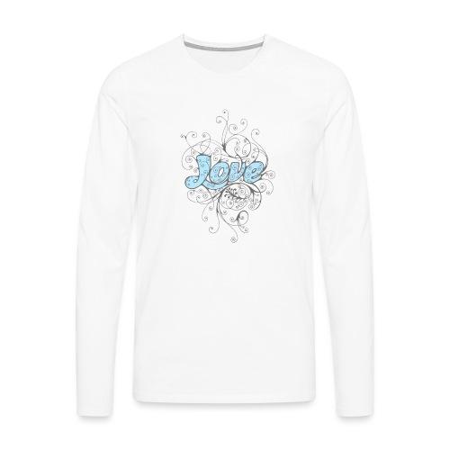 LOVE CON DECORI - Maglietta Premium a manica lunga da uomo