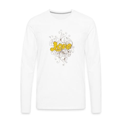 Scritta Love con decorazione - Maglietta Premium a manica lunga da uomo