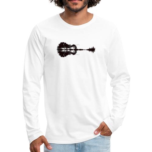 City of Guitar - Männer Premium Langarmshirt
