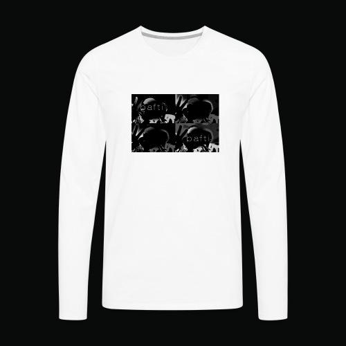 black bafti crew - Herre premium T-shirt med lange ærmer