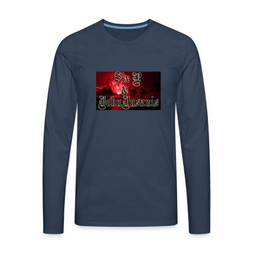 Six P & John Insanis T-Paita - Miesten premium pitkähihainen t-paita