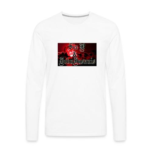 Kontrasti naisten t - paita - Miesten premium pitkähihainen t-paita